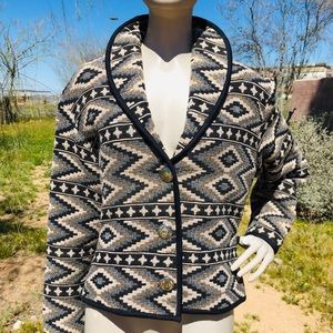 VTG Southwest Canyon Tribal Print Tapestry Jacket